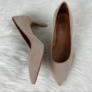 Vince Camuto nude textured heels | size 7
